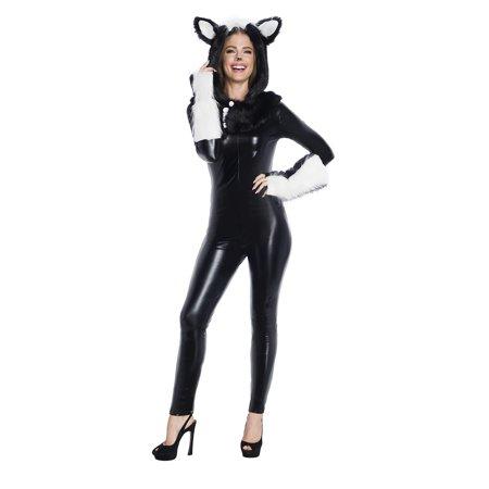 Skanky Halloween (Skunk Hood And Tail Adult Costume Kit, One)