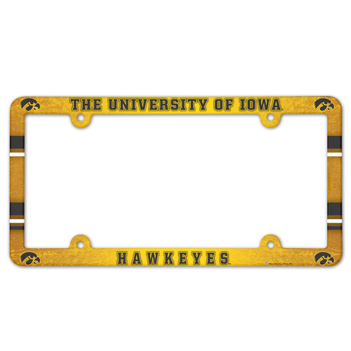 Iowa Hawkeyes License Plate Frame - Full Color