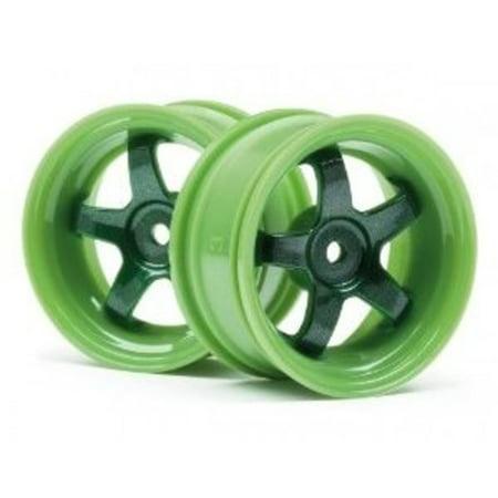 HPI RACING 111090 Work Meister S1 Wheel Green 3mm Offset (2)