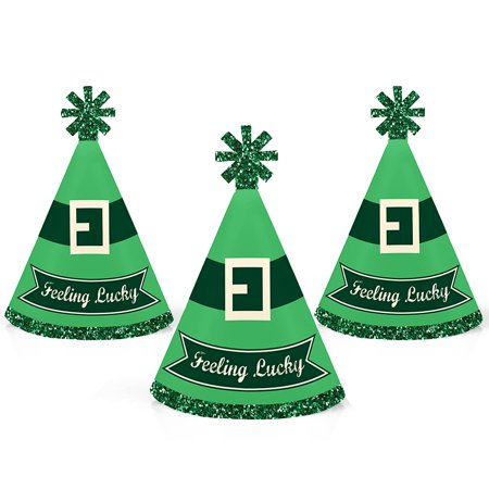 St. Patrick's Day - Mini Cone Saint Patty's Day Party Hats - Small Little Party Hats - Set of - St Patty's Day Hats