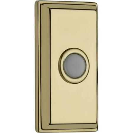 Baldwin Reserve 9BR7015004 Rectangular Bell Button Lifetime Brass (Rectangular Bell Button)