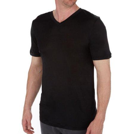 Men's Magic Silk 2406 100% Silk Knit V-Neck T-Shirt