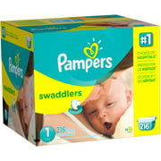Pampers Swaddlers Diapers, Economy Pack Plus, (Choose Your Size)