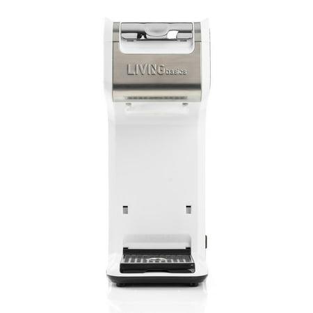LIVEDITOR 2 In 1 Single Serve Coffee Maker Brewer, Ground & K-Cup Pods, Slim Design, White - image 5 de 6
