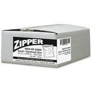 Webster Zipper Sandwich Size Storage Bags, 500 count