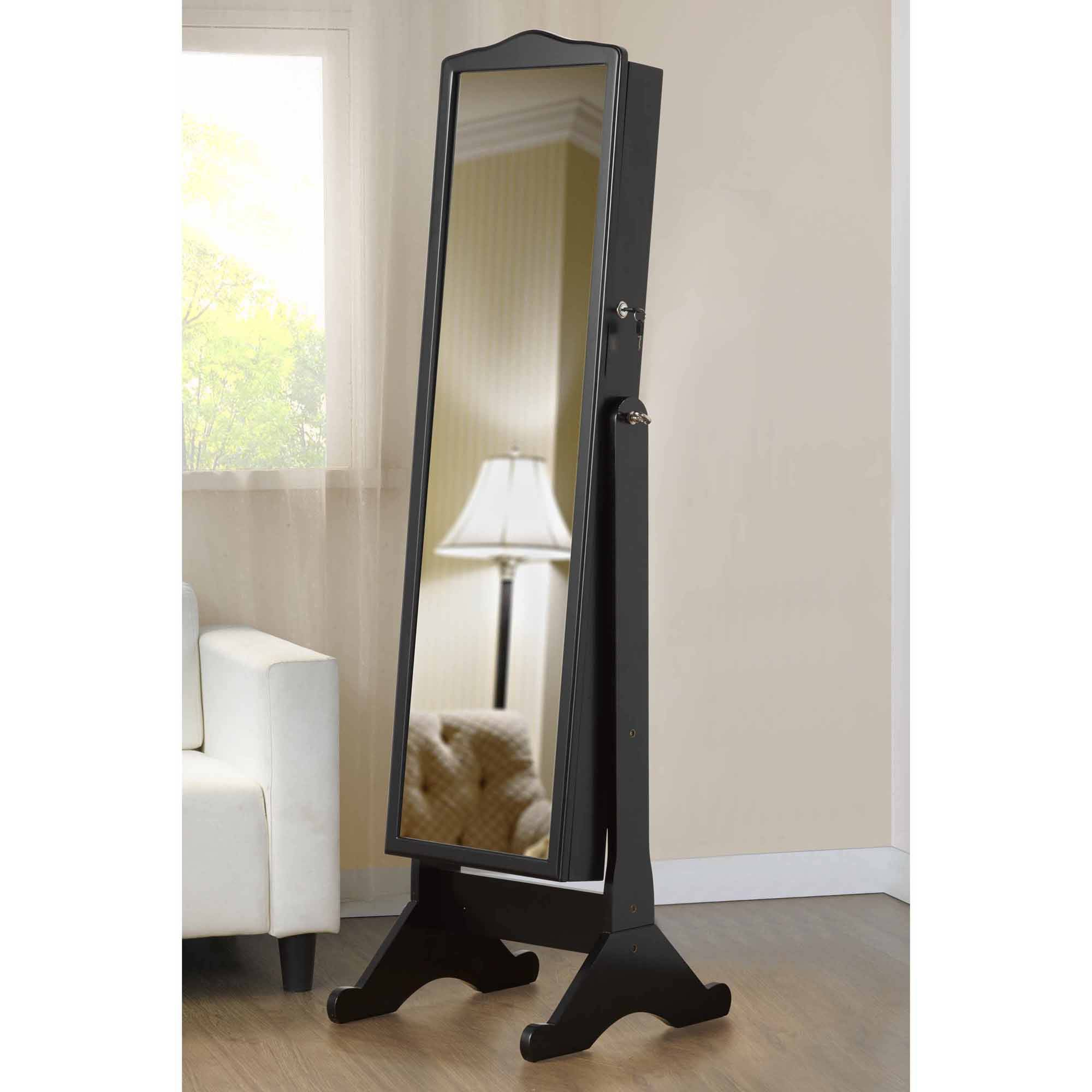 walmart length jewelry full black storage com mirror with ip cabinet