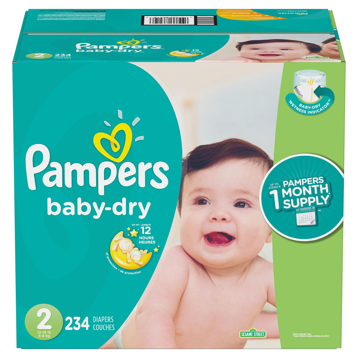 Pampers Baby Dry Diapers Size 2  Economy Pack 234 Count
