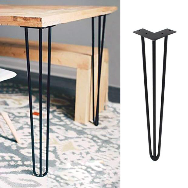 4 PCS Hairpin Breakfast Coffee Bar Worktop Table Kitchen Legs Square Round (22 Inch)