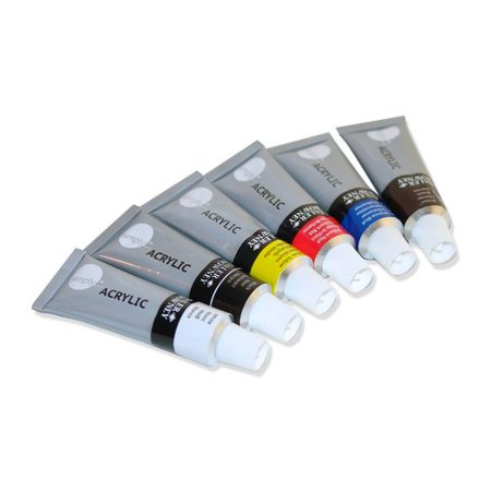 Daler-Rowney Simply 12 Milliliter Acrylic Paint Set, 6 - Halloween Face Paint Ideas Simple