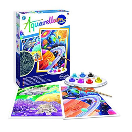 SentoSphere Aquarellum - Planets Glow in the Dark - Arts and Crafts Watercolor Paint Set for $<!---->