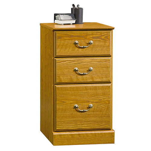 Sauder 3-Drawer Pedestal File Cabinet, Carolina Oak
