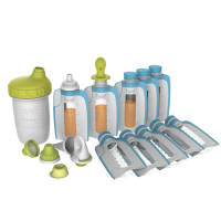Kiinde Foodii Squeeze Snack Filling & Feeding System Starter Kit, 14-Piece Set