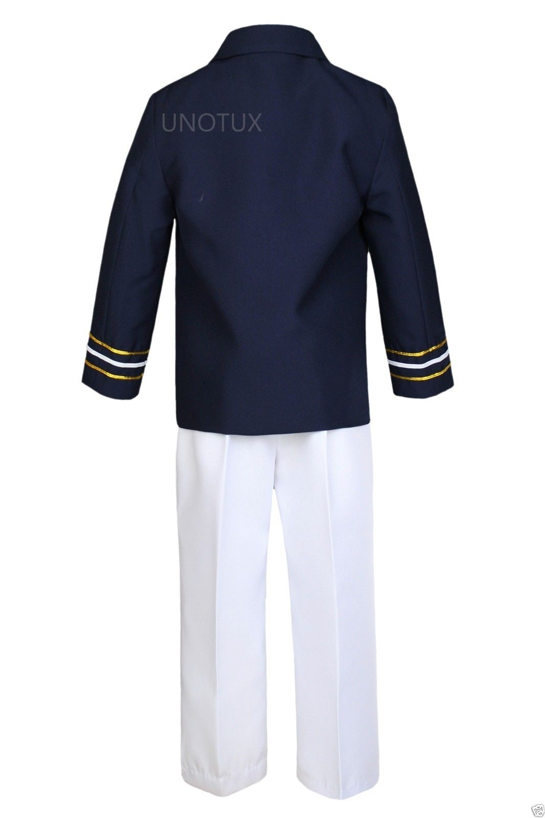 93ae34724 Infant Toddler Boy Party Formal Captain Nautica Sailor Suit Hat Outfits  Navy 1-7