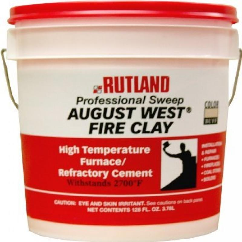 Rutland AW-6012 1-Gallon Tub Of Buff Colored Fire Clay