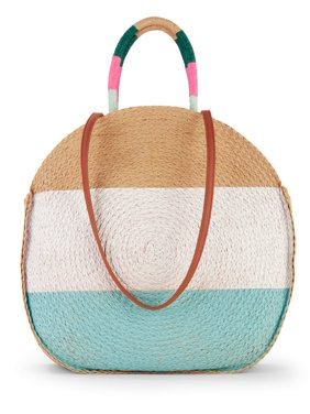 5ed7619dd Product Image Time   Tru Striped Straw Circle Tote