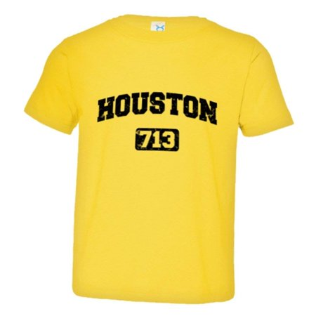 PleaseMeTees™ Toddler Houston 713 Area Code Distressed HQ Tee