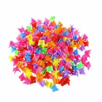 Michellem Cute Girls Hairpin Candy Color Mini Hair Claws Lovely Butterflies Heart Flower Star Hair Clips