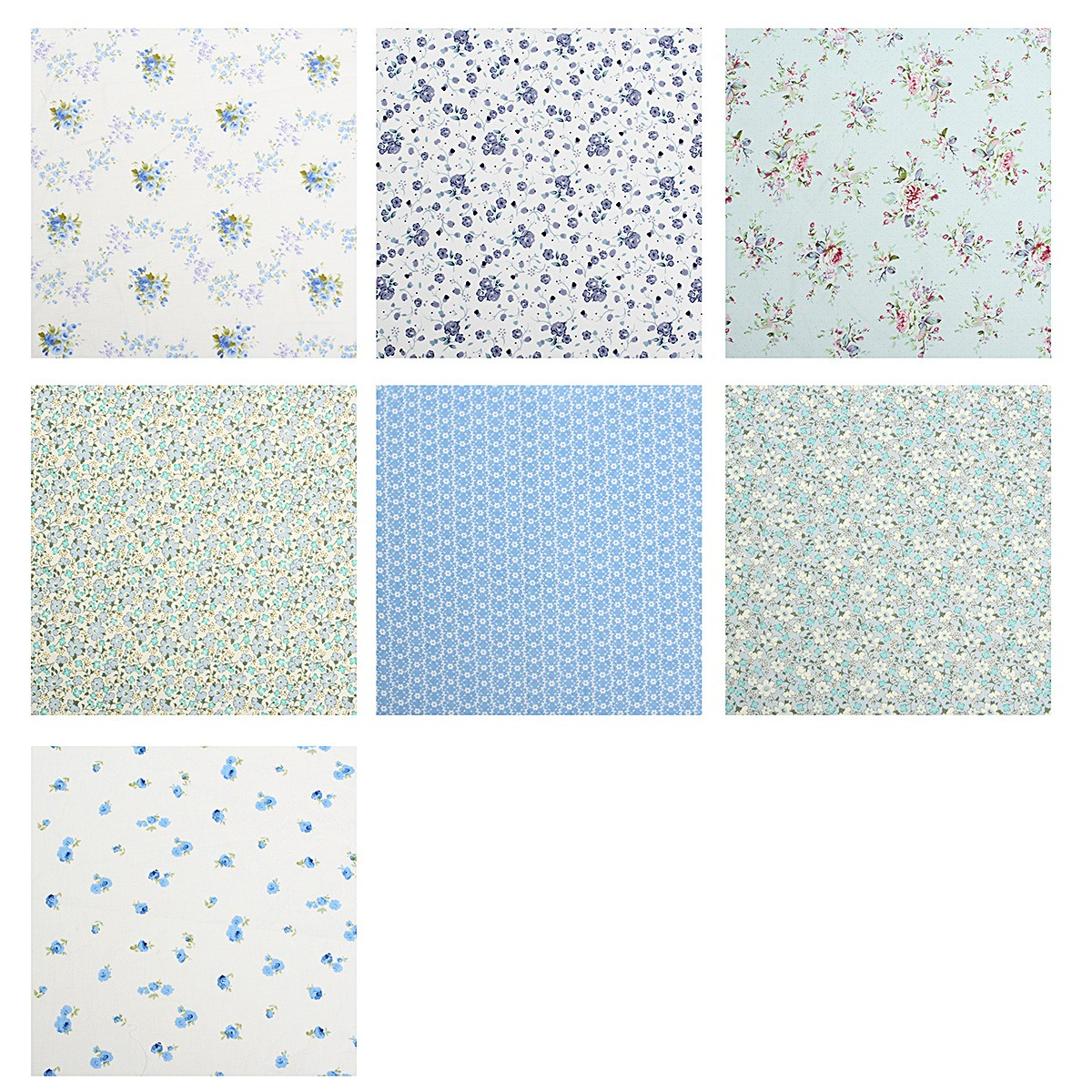 Floral Print Quilting Sewing Cotton Fabric Handicraft Fabric