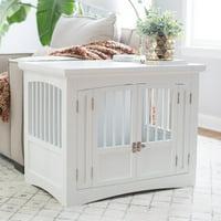 Boomer & George Double Door Pet Crate - White