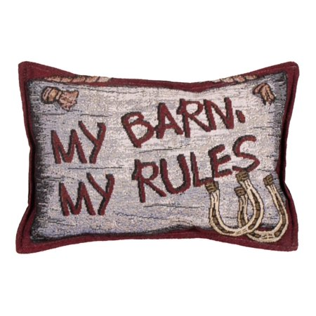 Set Of 2 Country Western Barn Rules Decorative Tapestry