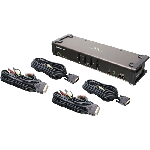 IOGEAR 4-Port DVI KVMP Switch with Audio and Cables