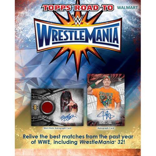 17 Topps WWE Road To Wrestlemania Hanger Box