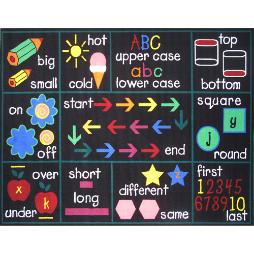 Fun Rugs Compare Kids' Rug, Black