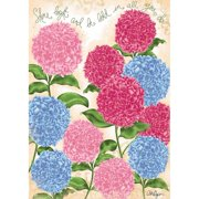 Lang Companies,  Pretty Hydrangea Outdoor Flag-Large - 28 x 40