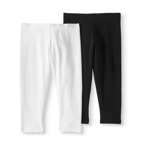 (Girls' Tough Cotton Capri Legging 2-Pack Set)