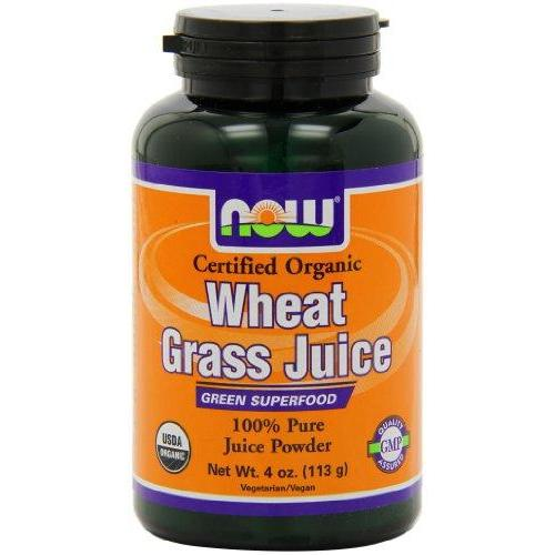 Now Foods Wheat Grass Juice Powder Org 4 Oz (Pack Of 2)