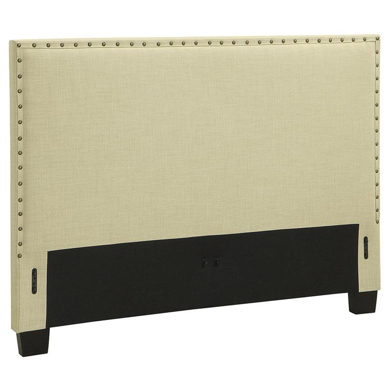 Modus Geneva Upholstered Queen Panel Headboard in Tumbleweed by