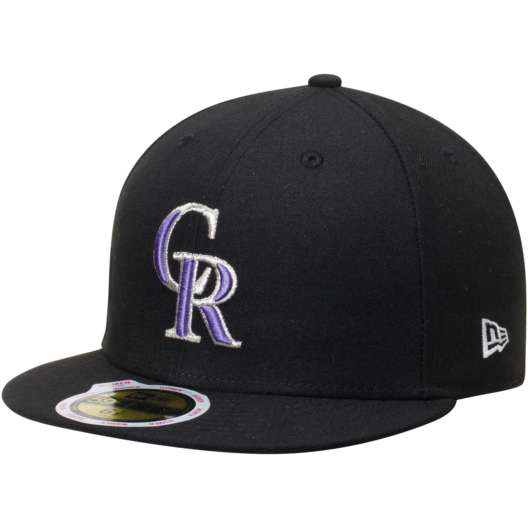 Women's New Era Black Colorado Rockies Authentic Collection On-Field 59FIFTY Fitted Hat by NEW ERA CAP COMPANY