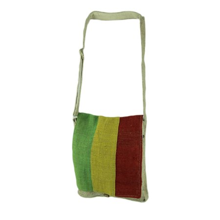 Rasta Hemp - Natural Tan Rasta Front Woven Organic Hemp Crossbody Bag