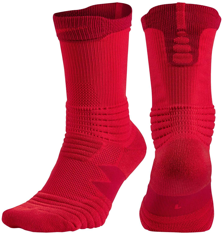 Nike Elite Versatility Crew Basketball Socks (Univ Red/Gy...