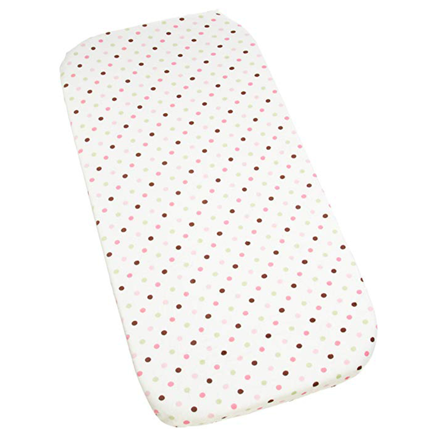 Carters Super Soft Printed Changing Pad Cover 100% Polyester - Pink/Green Dot