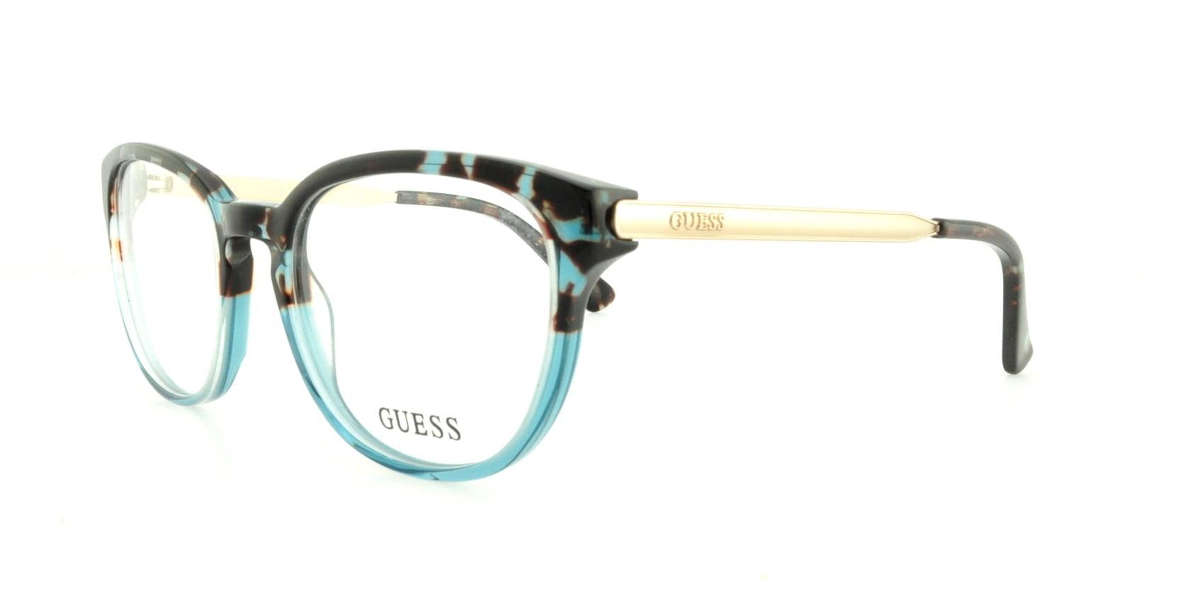 GUESS Eyeglasses GU 2461 B24 Blue 52MM - Walmart.com