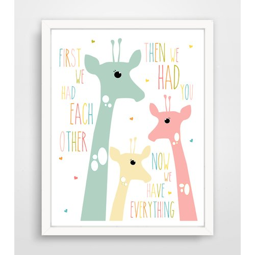 Finny and Zook First We Had Each Other Pink Giraffe Paper Print