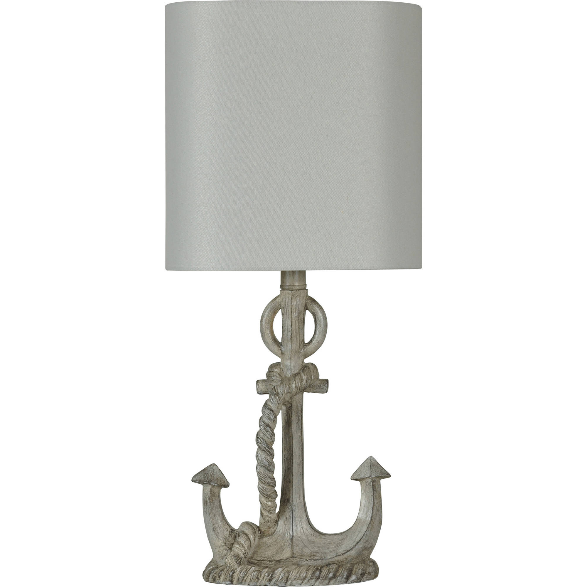 Charming Better Homes And Gardens Anchor Lamp With Shade, Distressed Grey