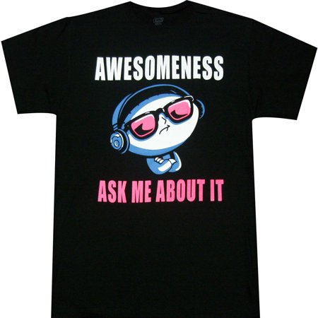 Family Guy Stewie Awesomeness Ask Me About It Adult T-shirt