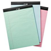 Pen + Gear Legal Pads, Pastel Color Paper, 50 Sheets, 3 Count