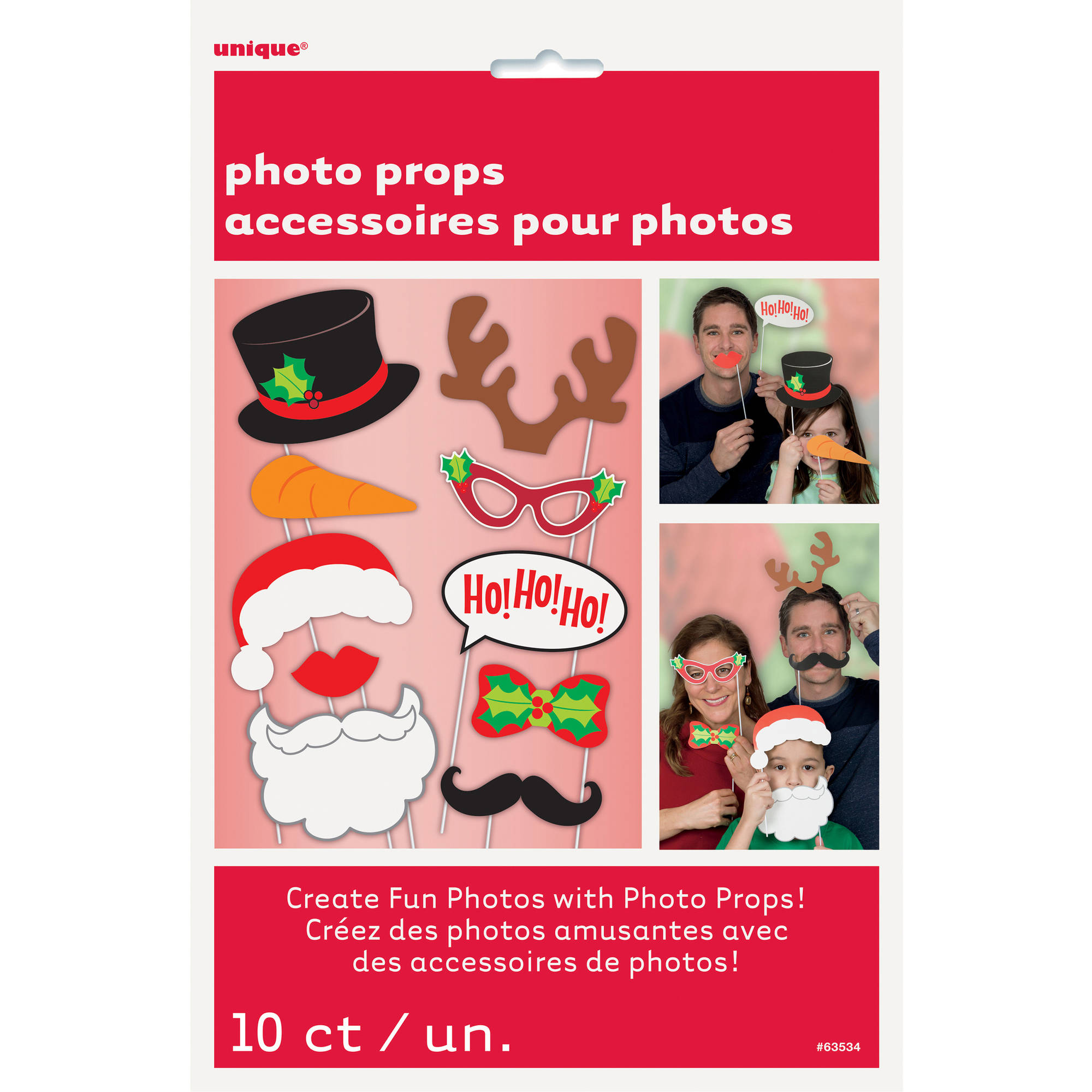 Christmas Photo Booth Props, 10 Pieces