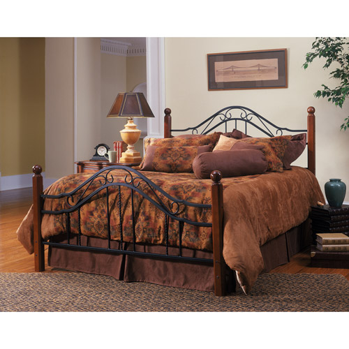 Madison Queen Bed, Walnut and Black