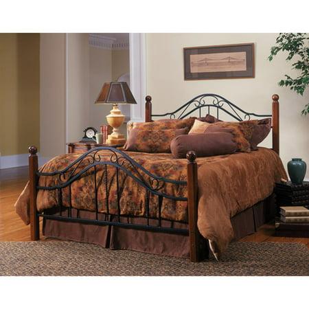 Madison Queen Bed Walnut And Black Walmart Com
