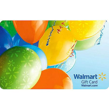 Birthday Balloons Walmart Gift Card