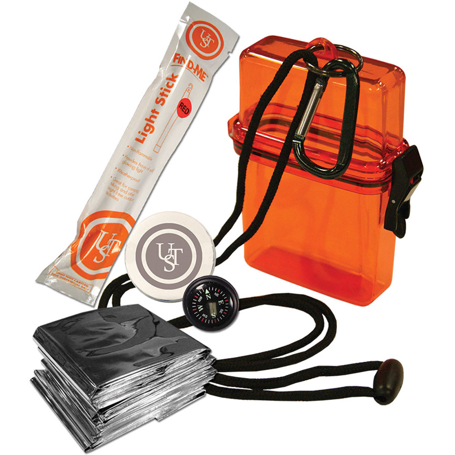 Ultimate Survival Technologies Watertight Survival Kit 1.0, Orange by Ultimate Survival Technologies
