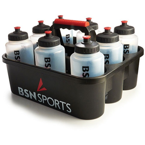 Water Bottle Carrier with 8 Sports Bottles - Quart Size