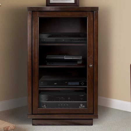 Darby Home Co Traditional Audio Rack With Glass Doors Walmart