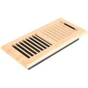 Louvered Maple Plastic Floor Register, 4 In. X 10 In.