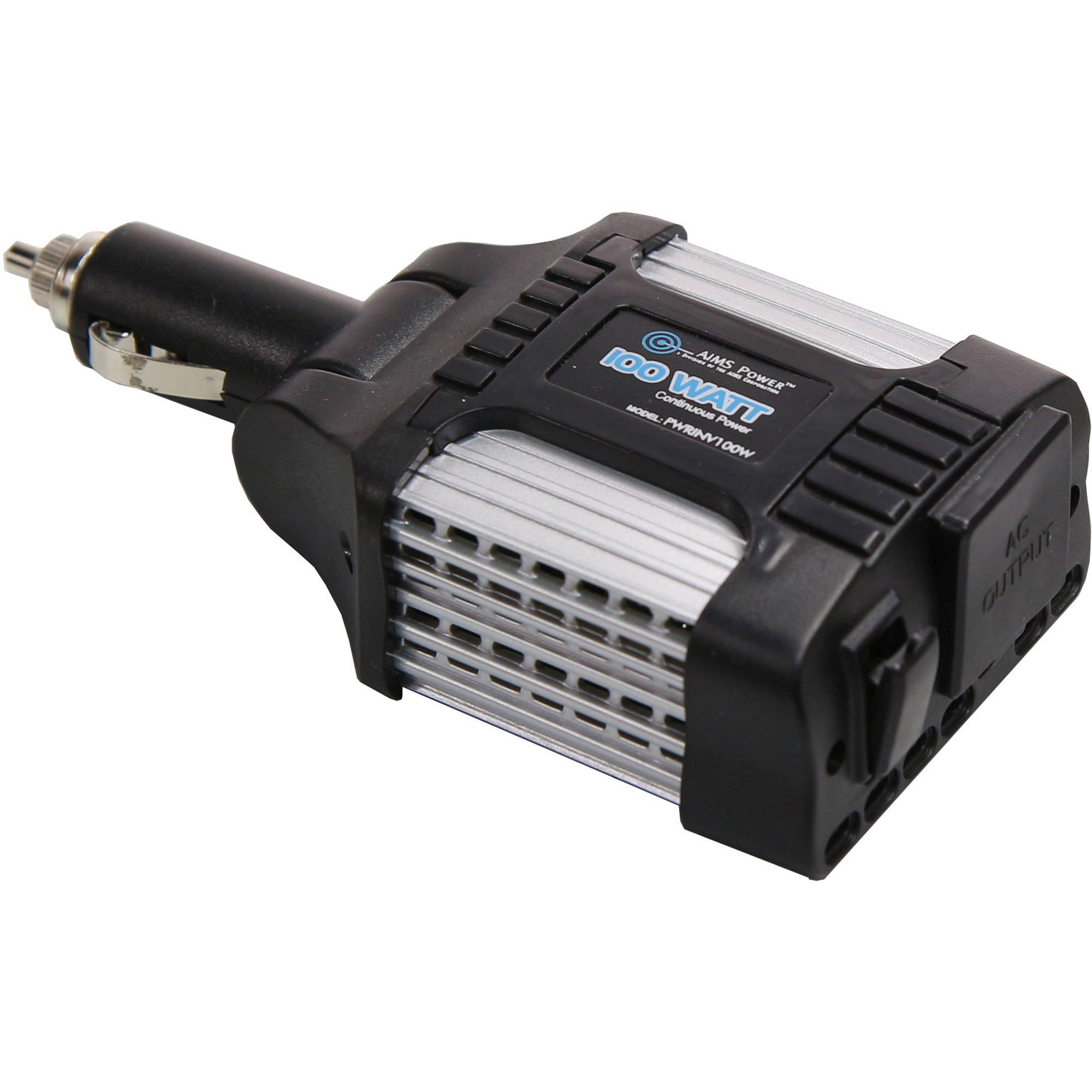 AIMS Power 100 Watt Cigarette Lighter Adapter Inverter