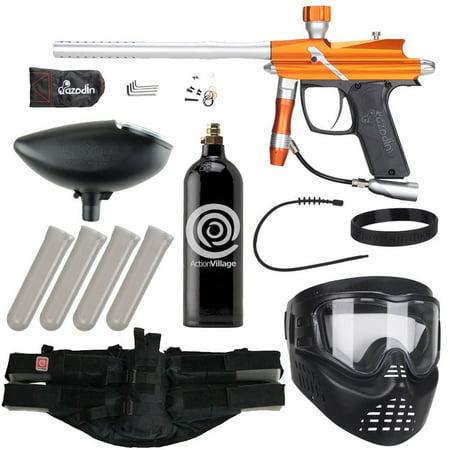 Azodin Blitz Epic Paintball Gun Package Kit - Matte Orange/Silver